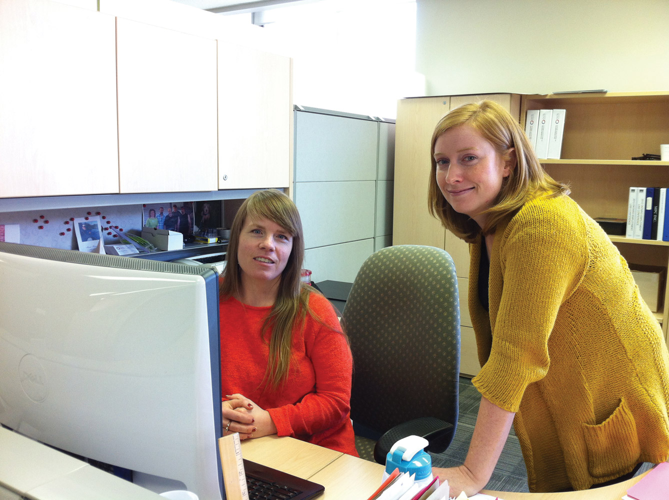Members of Ontario's Colleges Library Service (OCLS) work using their O3 online collaboration portal.