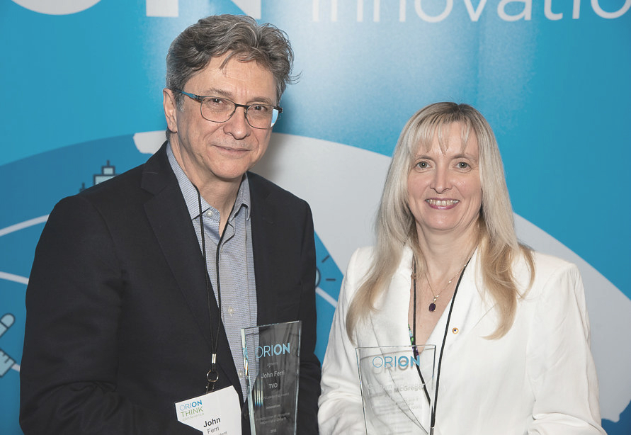 ORION Leadership Award Winners John Ferri and Carolyn McGregor
