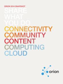 ORION snapshot 2014