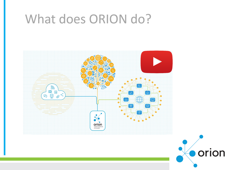 Click on image to view the presentation about ORION's services