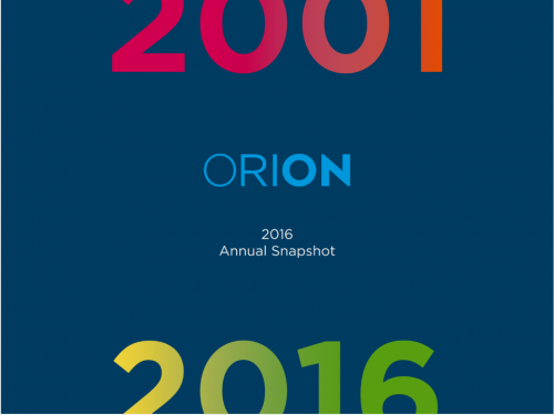 ORION's 2016 Annual Snapshot