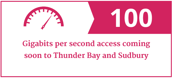 100Gbps coming soon to Thunder Bay and Sudbury
