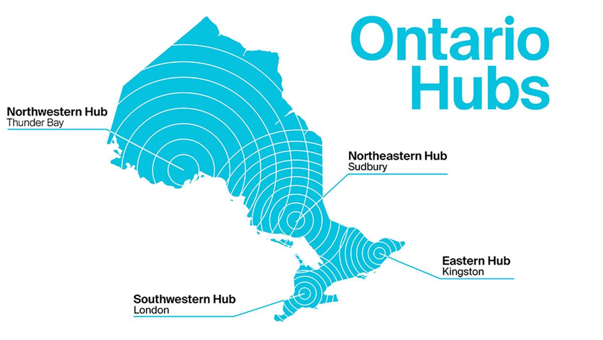 Ontario Hubs Map