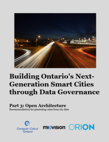 Smart Cities - Miovision report cover