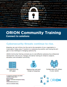 Preview of the ORION Community Training Brief