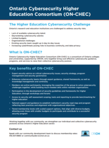 ON-CHEC one-pager graphic