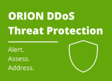 ORION DDoS Threat Protection banner