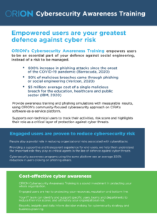 Cybersecuirty Awareness Training Brief preview